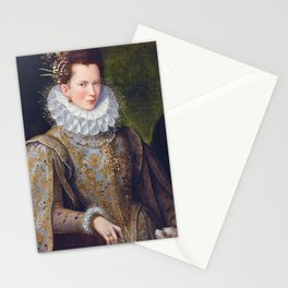 Portrait of Court Lady with Dog Stationery Cards