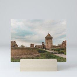 Old castle ruins Mini Art Print