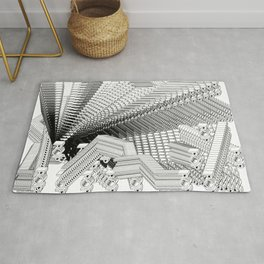 History of Art in Black and White.  Pop Art Rug