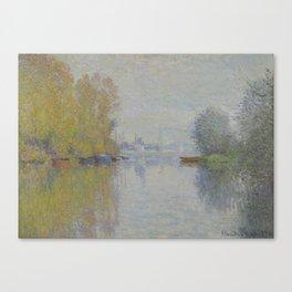 Autumn on the Seine, Argenteuil Canvas Print