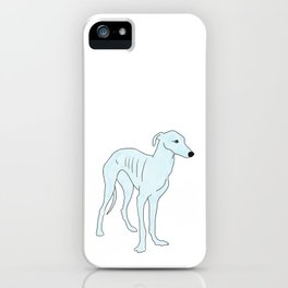 Blue Italian Greyhound iPhone Case