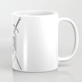 Crossed Swords and Shield Outline Coffee Mug