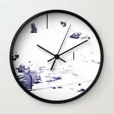 Overrun by Snow Wall Clock