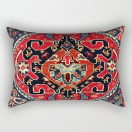 Qashqa'i Antique Fars Persian Bag Face Rectangular Pillow