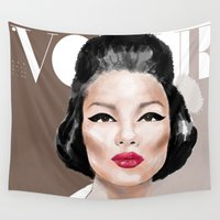 vogue Wall Tapestries featuring VOGUE II by Irene D'Anto'
