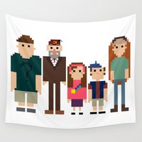 8 bit Wall Tapestries featuring Gravity Falls 8-bit by Evelyn Gonzalez