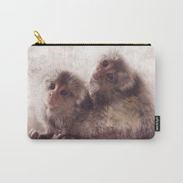 Marmoset infant twins Carry-All Pouch