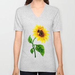 Summer Spring Sunflower Unisex V-Neck