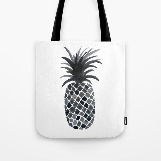 Black and White Pineapple Tote Bag