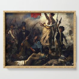 Delacroix – La liberté guidant le peuple-Liberty Leading the People-La Libertad guiando al pueblo Serving Tray