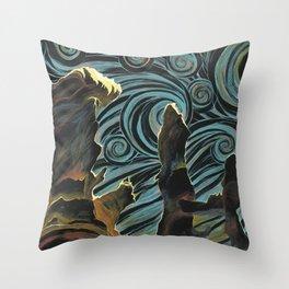 Pillars of Creation/Starry Night Throw Pillow