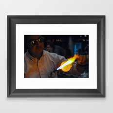 Main Street Glassmaker Framed Art Print