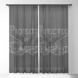 Protected by Castiel Black Wings Sheer Curtain