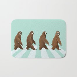 Sloth The Abbey Road in Green Bath Mat