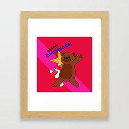 aaand Jazz Hands! Framed Art Print