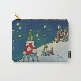 Winter Night on Mountains II Carry-All Pouch