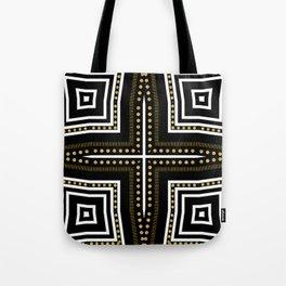 Black White + Gold Tote Bag
