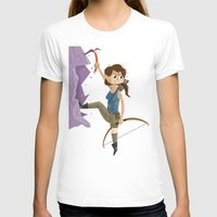 megan lara T-shirts featuring Lara Croft by James Loram