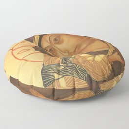 Orthodox Icon of Virgin Mary and Baby Jesus Floor Pillow