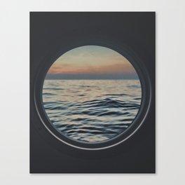 Sunset through the Porthole Canvas Print