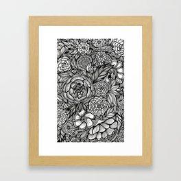 Peony Fascination Framed Art Print