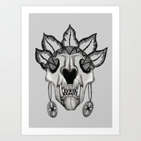 animal skull Art Prints featuring Animal skull by SilviaGancheva