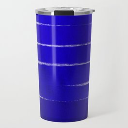 Shel - abstract painting painterly brushstrokes indigo blue bright happy paint abstract minimal mode Travel Mug