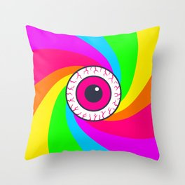 Neon Gaze Throw Pillow