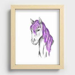 Princess Horse Recessed Framed Print