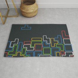 Retro Blocks Video Game Color Pattern Rug