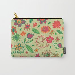 Spring Florals Yellow Carry-All Pouch
