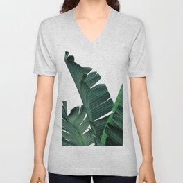 Tropical Leaf Print, Botanical Wall Art Print, Banana Leaf Print ,Tropical Decor Unisex V-Neck