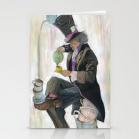 mad hatter Stationery Cards featuring Mad Hatter by Oliver Dominguez