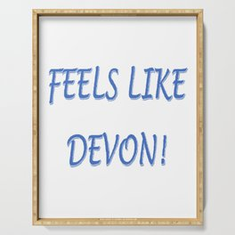 FEELS LIKE DEVON!  BLUE LOGO Serving Tray