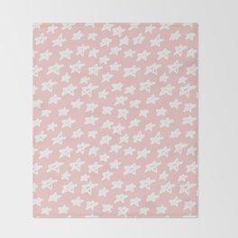 Stars on pink background Throw Blanket