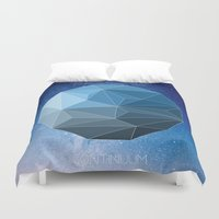 physics Duvet Covers featuring Continuum Space by yuvalaltman
