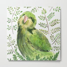 Kakapo in the ferns Metal Print
