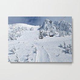 Mammoth Mountain: Chair 14 Metal Print