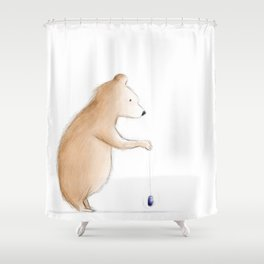 Bear with Yoyo Shower Curtain