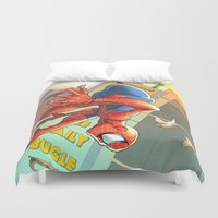 spider man Duvet Covers featuring Spider Man by Brian Hollins art