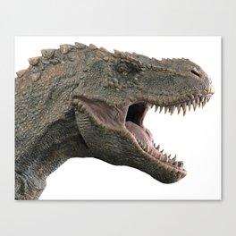 T-Rex Tyrannosaurus Dino Head roaring Canvas Print