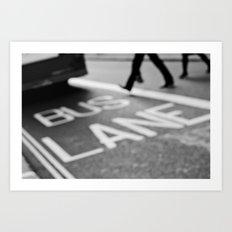 Bus line London Art Print