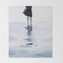 all around the sea Throw Blanket