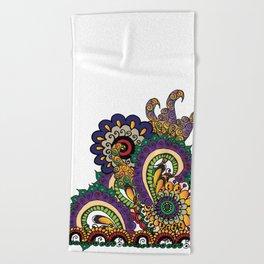 Hello 70s! Corally Beach Towel