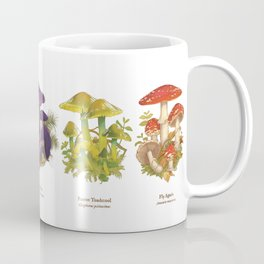 Illustrated Mushrooms Coffee Mug