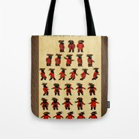 monkey island Tote Bags featuring Monkey Island - LeChuck's Moves by Sberla