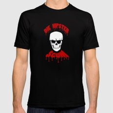 DIE HIPSTER SCUM X-LARGE Black Mens Fitted Tee