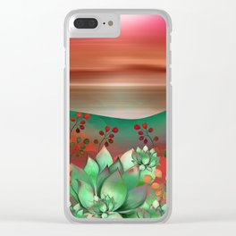 """Naif tropical colorful landscape"" Clear iPhone Case"