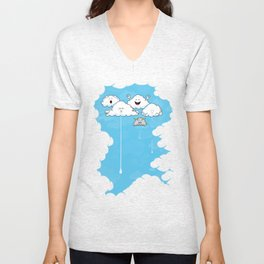 Young Clouds fooling around Unisex V-Neck