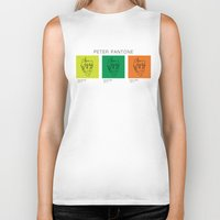 pantone Biker Tanks featuring Peter Pantone by guissëpi